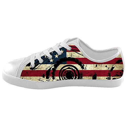 Custom Lop-top American Flag Canvas Shoes Footwear Sneakers Flat Shoes Kid's Shoes