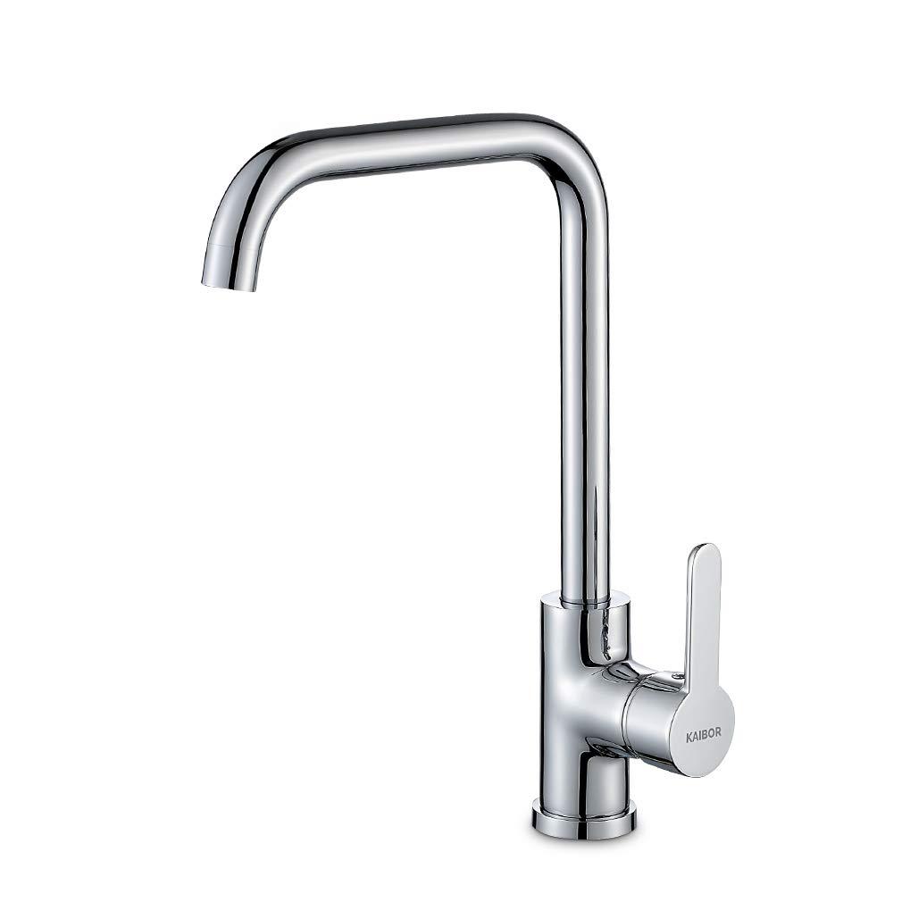KAIBOR Chrom Küchenarmatur 19° Drehbar Wasserhahn Küche