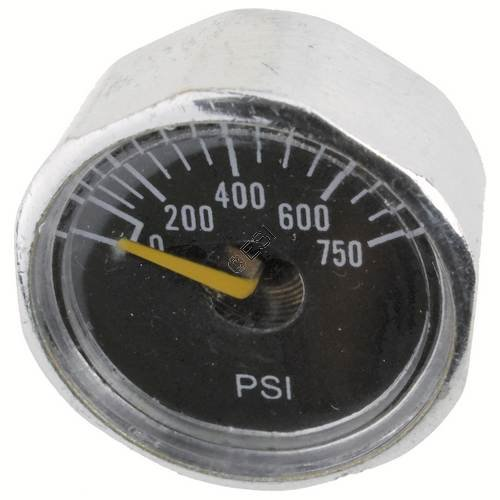 Custom Products Micro Gauge 0-600psi - 1/8th Inch NPT Post Mount - 1 Inch Face by Custom Products