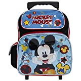 Disney Mickey Mouse Black & Shiny Blue Small 12' Rolling Backpack