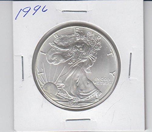 1996 American Silver Eagle 1 Ounce Silver Coin Dollar Brilliant - 1996 Coin Eagle Silver American