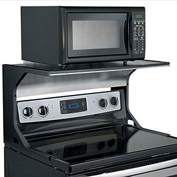 Amazon.com: Microwave Oven Shelf Bracket   Black By Improvements: Tool  Utility Shelves: Kitchen U0026 Dining