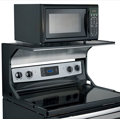 Microwave Oven Shelf Bracket - Black by Improvements