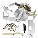 Commercial Cylindrical Lever Heavy Duty Non-Handed Grade 2 Door Handle (Entrance/Keylock, Satin Chrome)