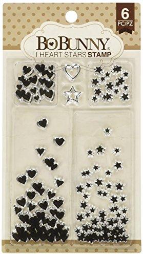 - Bo Bunny I I Heart Stars Stamps, Multi