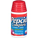 Pepcid Complete Acid Reducer + Antacid Chewable Tablets, Berry, 50 Count