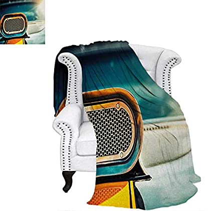 Amazon Com Summer Quilt Comforter View Of Powerful Muscle Car