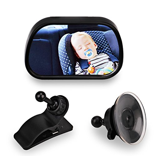 Baby Car Mirror - Baby Mirror For Rear Facing Car Seats, Wide Clear View, 360 Degree Adjustable, Kids Automotive Safety Back Seat Rear View Mirror by YSSHUI
