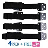 Furniture Straps - TV Safety Straps - Dresser Anchoring Kit - Furniture Anchors for Baby Proofing - Wall Anchor - Child Proof - Secure Furniture - Anti Tip Furniture Kit - METAL - 4 PACK – Gift Bonus