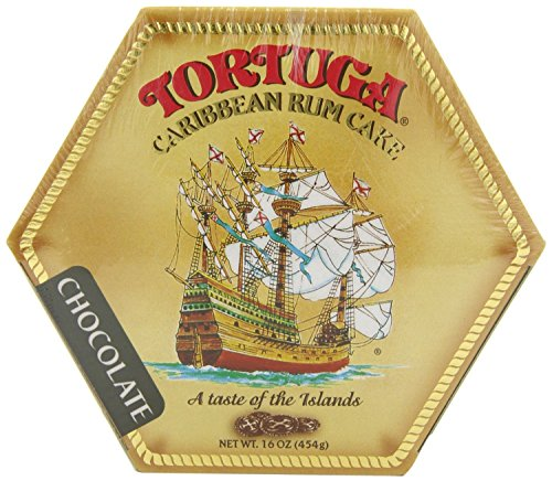 Tortuga Caribbean Chocolate Rum Cake, 16-Ounce Box - Pack of 2 - Cayman Islands Tortuga Rum