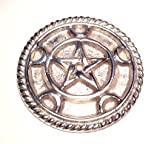 """Altar tools: Moon Pentacle Silver Plated Altar Paten 3"""""""