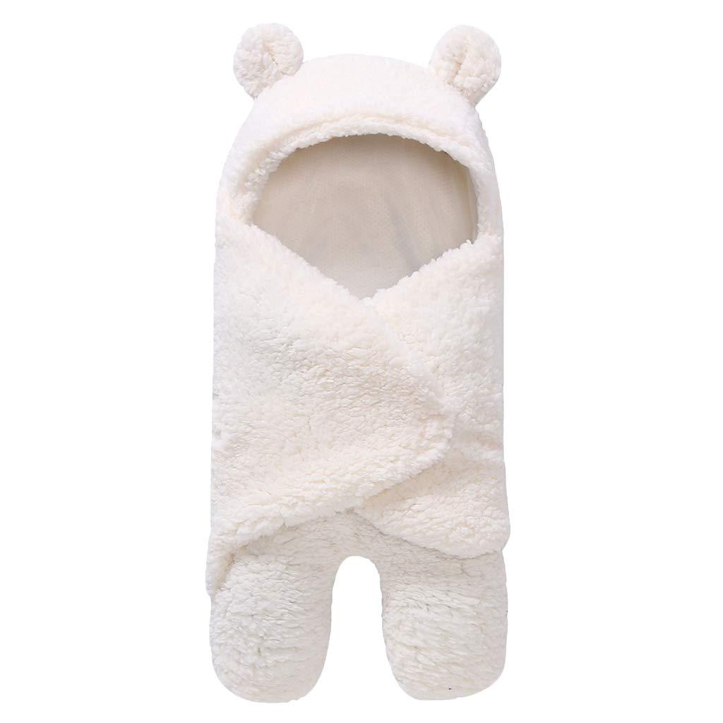 29x55cm F Fityle Sacco a Pelo Cotone Unisex,Sacco A Pelo Invernale per Bambini,Sacco A Pelo per Passeggino,Sacco A Pelo per Neonati di Viaggio Bianco per 0-3 Mesi