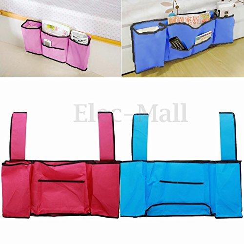 LARARHEE-Bedside Caddy Pocket Bed Organizer Hanging Storage Bag Phone Book Remote Holder