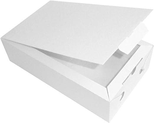 SDG Caja Blanca para almacenar Alimentos, 29 x 17 x 7,5 cm, Caja térmica de cartón Ondulado, 10 Unidades: Amazon.es: Hogar