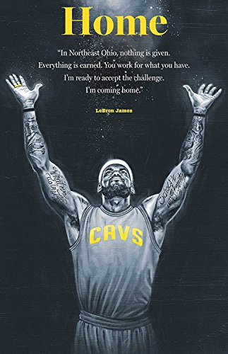 James Lebron Fabric (Lebron James Cleveland Cavaliers Basketball Limited Print Photo Poster 36x24 #1)