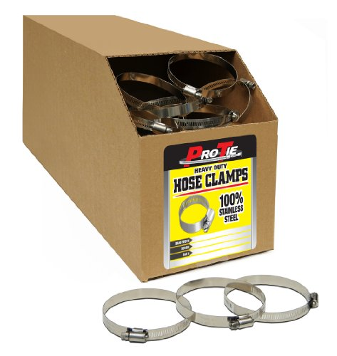 Pro Tie 33859 Heavy Duty All Stainless Bulk Hose Clamps, ...