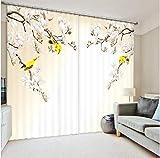 QiZhan541 CortinaAnimación de fotos Impresión de cortinas con ropa de cama Sala de Estar u Hotel Parasol con sombrilla gruesa Cortinas de Ventana 3D 270 cm de Alto x 300 cm de ancho