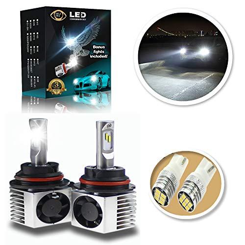 Eagle Eyes Extreme 9004/9007 LED Headlight Bulbs - New Extended Life - Bonus X2 Mini Led Bulbs - Intelligent Control, Plug and Play Conversion Kit - Adjustable Bright White High ()