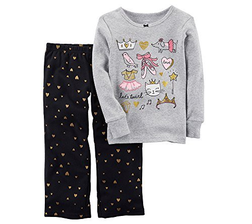 Carter's Baby Girls' 12M-14 2 Piece Ballerina Fleece Pajama Set 6
