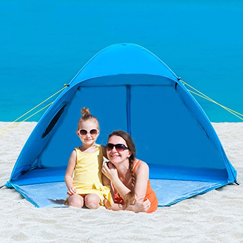 Beach Cabanas Portable Shelter : Icorer pop up instant portable outdoors person beach