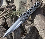 Unlimited Wares Medieval Celtic Sgian Dubh Knife Dagger 9-Inch Overall For Sale
