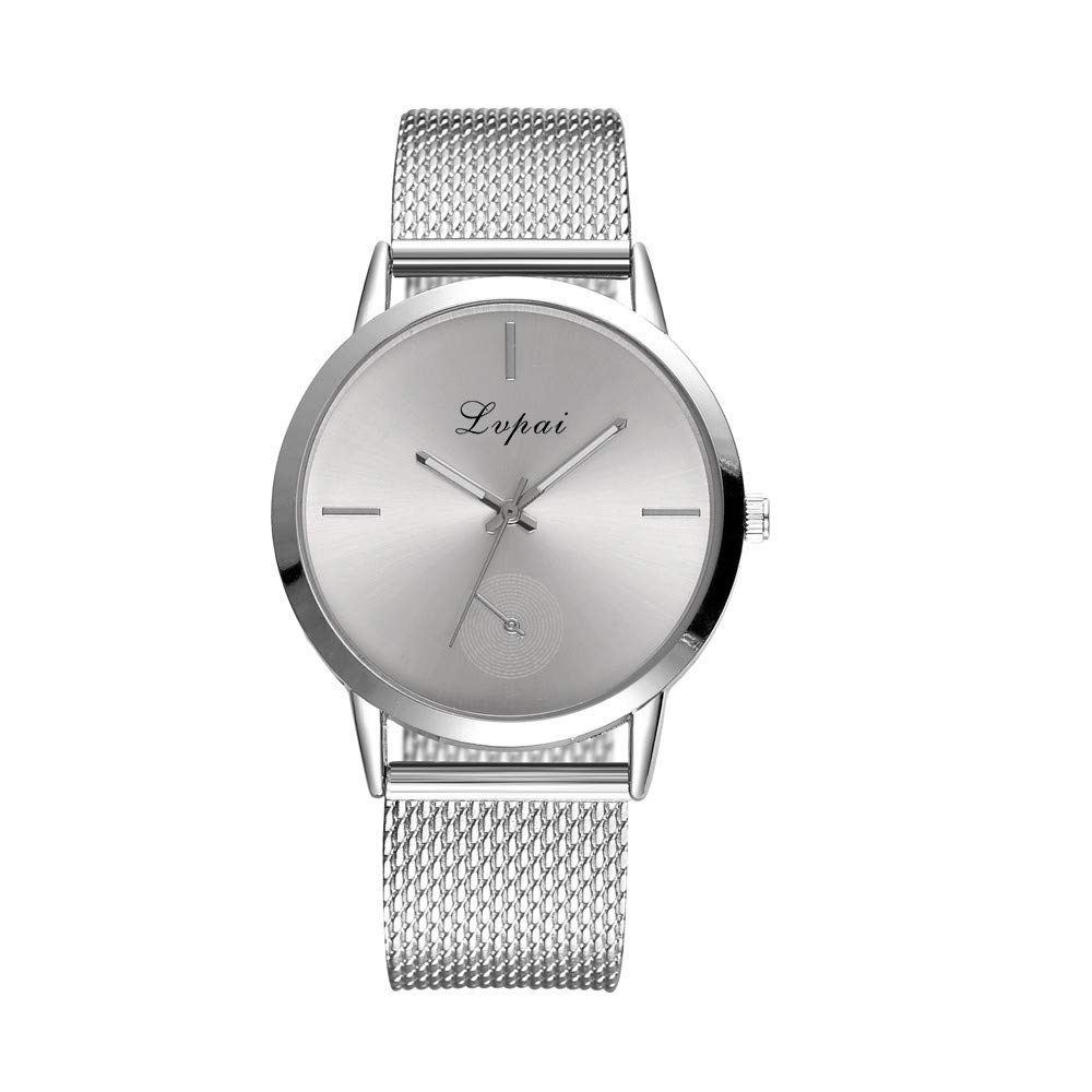 Fashion Watches for Women Stainless Steel,Women's Casual Quartz Leather Band Watch Analog Wrist Watch,Girls' Watches,Silver