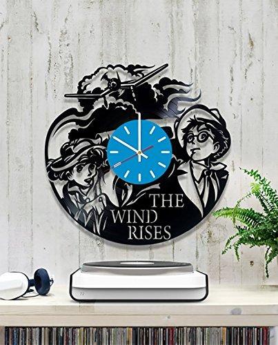(The Wind Rises Cartoon Vintage Vinyl Wall Clock Gift)