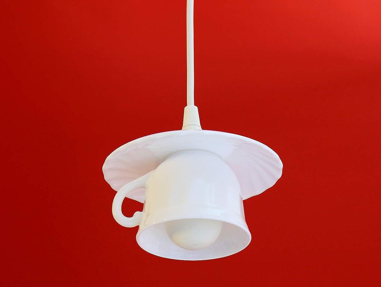 Tassenlampe, Upcycling Lampe aus Geschirr Tasse, Vintage Geschirrlampe, Küchenlampe Küchenlampe