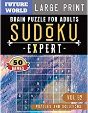Sudoku Expert: Brain health games | Sudoku Difficult brain health games for Senior , mom , dad Large Print