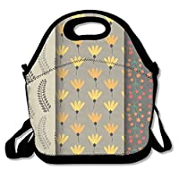 Autumn Floral Beautiful Lunch Bag Fits For School Travel Outdoor