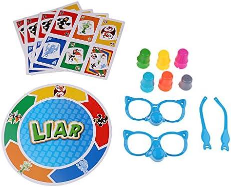 FLAMEER Stretch The Truth Completa El Juego De Cartas De Mesa Mentiroso para Niños, Niños, Juguetes Divertidos: Amazon.es: Juguetes y juegos