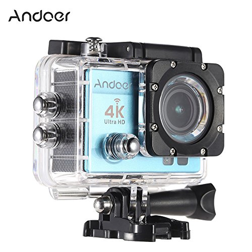 1080p H.264 30fps Full HD Waterproof Wi-Fi Sports Camera (Blue) - 2