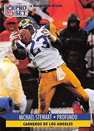 1991 Pro Set Spanish Football #125 Michael Stewart Los Angeles Rams