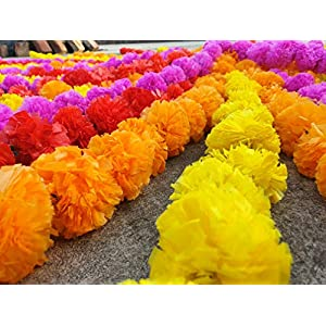 15 pcs lot Real Look Artificial Garlands Marigold Flower Garland Christmas Wedding Party Decor Flowers Mix Color Home Decor Christmas Decor 9
