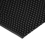 "Rubber-Cal 03-W246-BK-10 ''S-Grip'' PVC Runner - 3/16"" x 4' x 10' - Black"