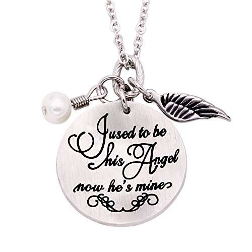 Melix Home I Used To Be His Angel Now He's Mine Necklace, Loss of Father Sympathy Gift, Remembrance Jewelry