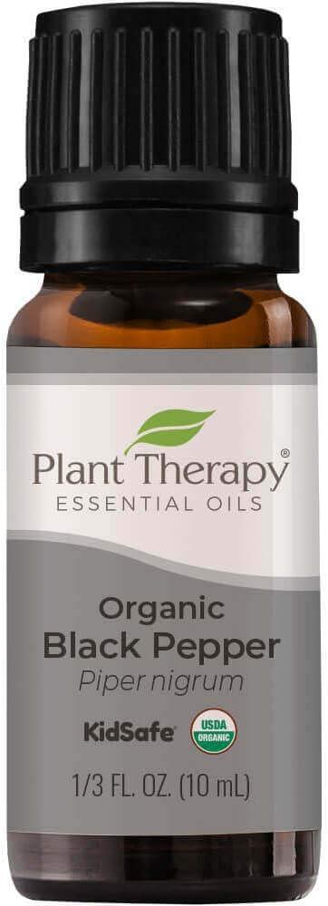 Plant Therapy Organic Black Pepper Essential Oil 10 mL (1/3 oz) 100% Pure, Undiluted, Therapeutic Grade