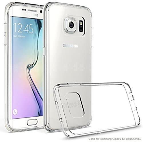 IVSO Samsung Galaxy S8 Edge Case - TPU Bumper with Crystal Clear PC Back [Drop Protection/Shock Absorption Technology] For Samsung Galaxy S8 Edge Phone(Clear) Sales