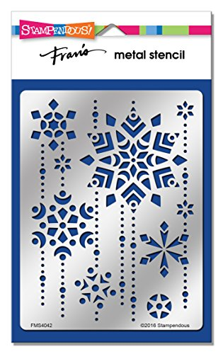 Stampendous New Wood - Stampendous FMS4042 Snowflake Cascade Metal Stencil