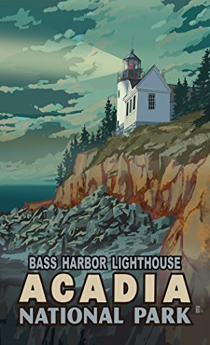 Northwest Art Mall MR-1780 RX Bass Harbor Lighthouse Acadia National Park 11