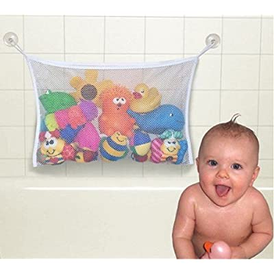 "Baby Todder Bath Tub Toys Organizer Bag with Suction Cups by Grocery House (14.57"" x 14.17"")"