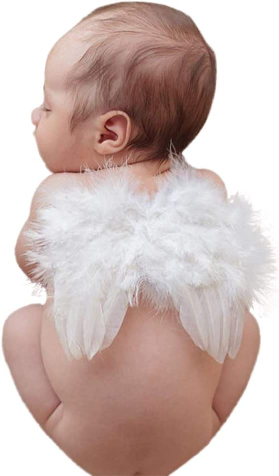 Newborn Baby Girls Boys Angel Wings Costume Photo Photography Prop Outfits NEW