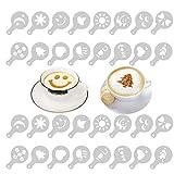 Honbay 2 Set 32PCS Creative Latte Stencils Nice