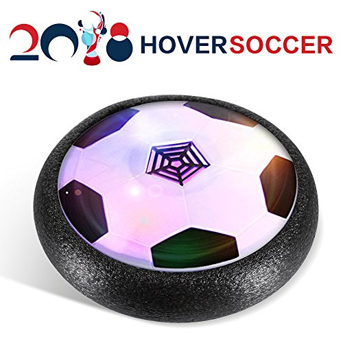 URAJOY Air Soccer, Kids Toys ball, Parents Game with LED Light and Foam Bumpers Sports Toys Boys Girls Pets for Indoor Outdoor Activities Toys Holiday Birthday Wolrd Cup Gift Present