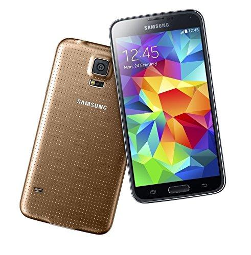Samsung Galaxy S5 smartphone (12,95 cm (5,1 pulgadas) pantalla táctil, 2,5 GHz Quad Core Procesador, 2 GB RAM, cámara de 16 Mpx, Android 4.4) Oro (Reacondicionado Certificado): Amazon.es: Electrónica