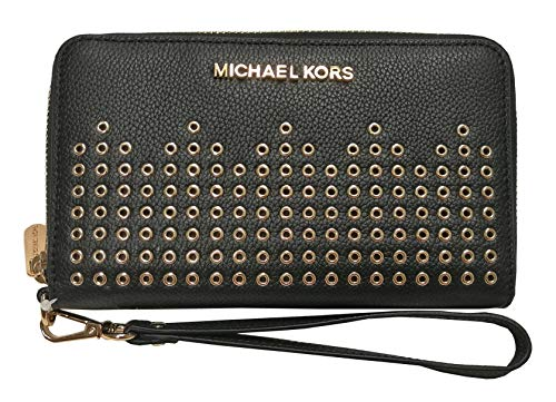 Michael Kors Hayes Large Flat Multifunction Phone Case Leather Wallet - Iphone 4 Kors Michael Wallet Case