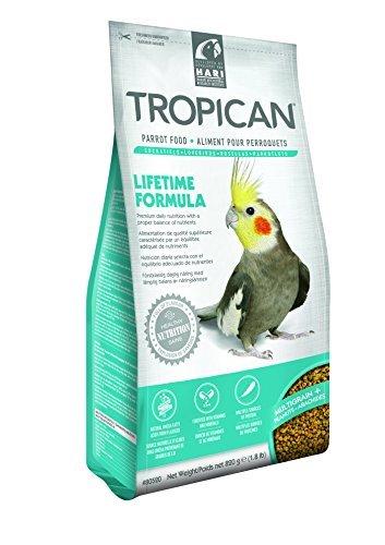 Cockatiel Granules - Tropican 1.8-Pound Lifetime Maintenance Cockatiel Granules, Standup Zip Bag by Hari