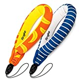 Ringke Floating Strap (2 Pack) Universal Waterproof Float For All Devices: GoPro, Digital Camera, Mobile Phones, And More - Banana+Navy Stripes
