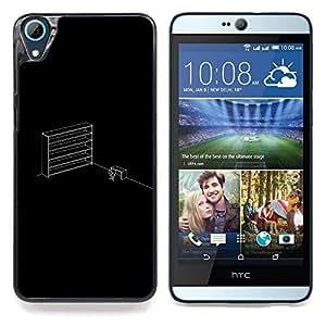 "Qstar Arte & diseño plástico duro Fundas Cover Cubre Hard Case Cover para HTC Desire 826 (Oficina minimalista"")"