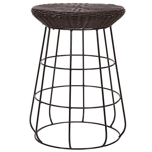 Household Essentials Resin Wicker Stool